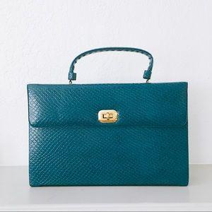 Handbags - VINTAGE 40s top handle square handbag / briefcase
